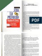 COVEY, Primero, Lo Primero Pgs 19 a 38