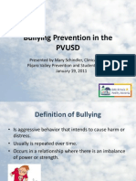 bullying prevention in the pvusd 1 19 11