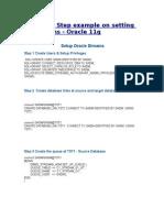 Oracle 11g Streams Configuration