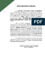 DECLARACION  JURADA - CONVIVIENCIA