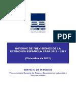 InformePrevisonesEconomiaEspaña2013