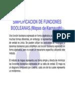 Simplificacion de Funciones Booleanas - Mapas Karnaugh