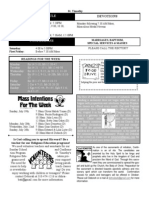 St. Timothy Bulletin for July 19, 2009.