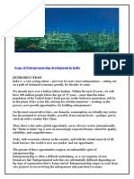 14668033 Project Report on Entrepreneurship in India