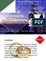 Licao 2 - Subsidio - Adverterncias Contra o Adulterio