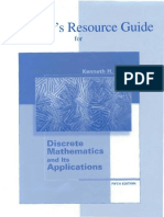 Instructor s Resource Guide for Discrete Mathematics and Its Applications
