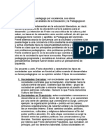 La Sociologia de La Cultura y La Critica Pedagogica de Paulo Freire.