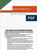 Clase de Remuneraciones 2013