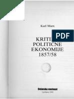 Marx, Karl - Kritika politicne ekonomije, Ocrti 1857-58 (Grundrisse)