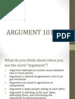 Argument 101