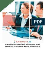 Curso Atencion Sociosanitaria Personas Domicilio Auxiliar Ayuda a Domicilio Online