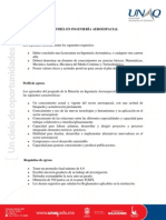 Información General  Maestría en Ingeniería Aeroespacial