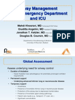 Airway Management in emergency and icu