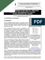Decreto Supremo 004-2009-TR Discriminacion de trabajadores del hogar en el Peru