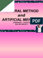 contraceptives natural/articficial method