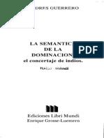 Guerrero, Andres_La Semantica de La Dominacion