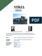 Nokia Final Assignment