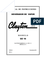 Clayton Electric Steam Generator Manual Ge-16