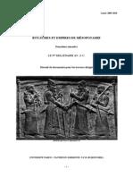 Programme UE Royaumes et empires de Mésopotamie fascicule S2