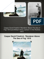 Presentation Comparison of Casper David Friedrich 'Wander Above The Sea of Fog' and William Henry Jackson 'In The Rockies'
