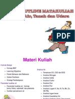 Kuliah I Course Outline Matakuliah