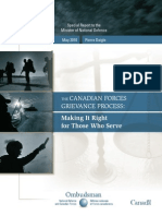 The Canadian Forces Grievance Process - Making It Right for Those Who Serve