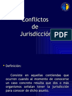 conflictos de jurisdiccion + tribuanles