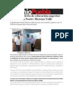 03-10-2013 Sexenio Puebla - Aumenta oferta de educación superior en la Sierra Norte, Moreno Valle