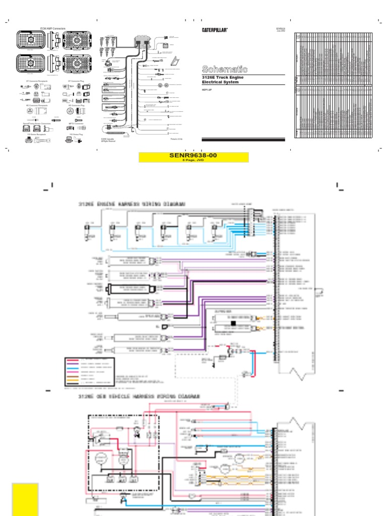 caterpillar tachometer wiring diagram wiring diagram for light marine diesel  engines cat 3126 manuals rh es