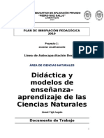 Didactica y Modelos de Las Ccnn