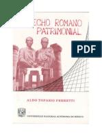 33808218 Derecho Romano Patrimonial Ferretti Aldo Topasio 1