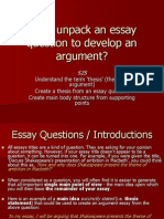 1 - Unpacking an Essay Topic to Develop an Argument