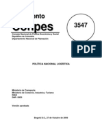 Politica Nacional Logistica Compes 3547