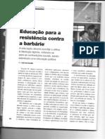 EDUCAÇÃO CONTA A RESISTENCIA