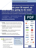 The CR Reporting & Communications Summit, 25 - 26 Nov, London - BROCHURE