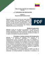 LEY ORGÁNICA DE EDUCACIÓN 2009