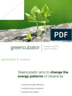 greencubator energy innovations support programme presentation (English version)