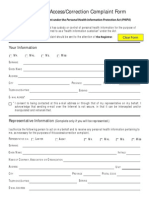 Access or Correct Complaint Form