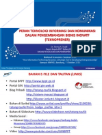 Peran TIK Dalam Pengembangan Teknoprener UNPAD 7 Oktober 2013 - Tatang A. Taufik
