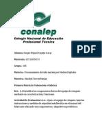 Computacion Matricula de Valoracion Insrtalacion y Conexion Del Equipo