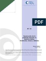 Construcción de la profesión docente en América latina. Tendencias, temas y debates. Vaillant, D