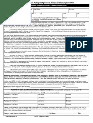 graphic regarding Skyzone Printable Waiver named Skyzone Houston Waiver[1] Indemnity Lawsuit