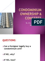 Condominium Ownership & Concepts (9.1.13)