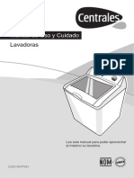 LIE15510PBB Manual Lavadoras