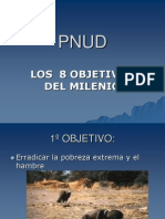 8 Objetivos Del Milenio
