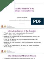 RMB internationalisation