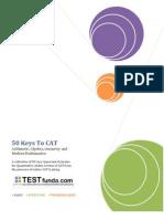 50 Keys to CAT From TestFunda