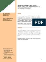 Tratados Internacionais Valor Legal, Supralegal Constitucional Ou Supraconstitucional