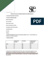 REPORTE DE ESCALA DE ANSIEDAD MANIFIESTA EN NIÑOS (CMAS-R) ejemplo de formato de reporte de aplicación