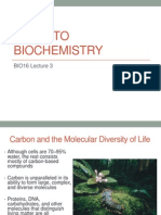 3 Intro to BioChemistry